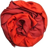 PASHMINA 2 TONS ORANGE/BRUN
